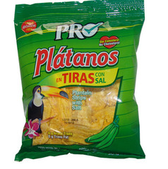 Platanos - Slightly Salted Green Plantain Stripes (90g) Box of 20